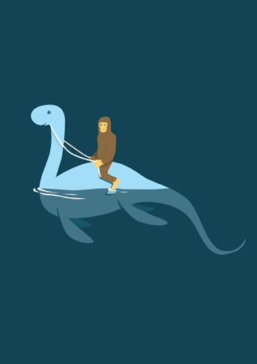 bigfoot riding nessie b