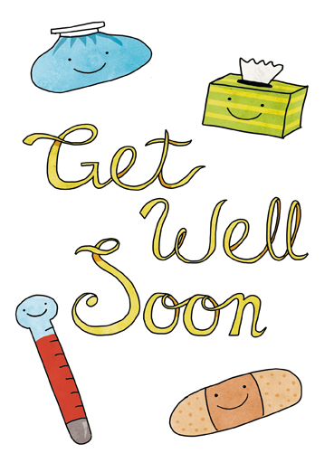 get well soon friends open me