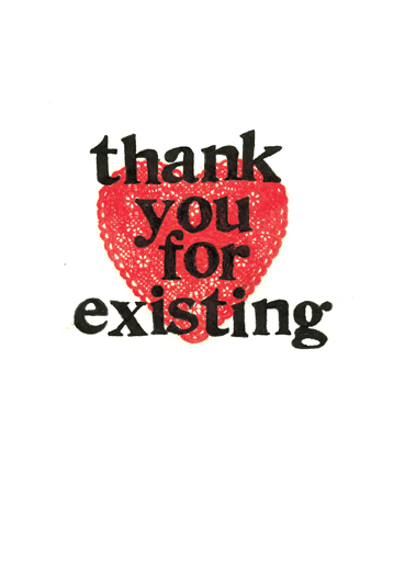 thank you for existing ecard by grainne patterson