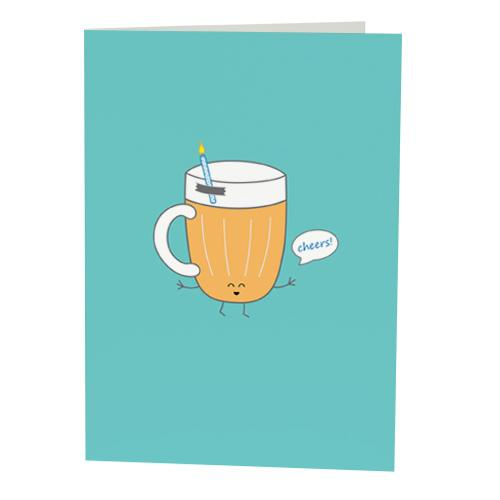 Happy birthday ecards free open me beer design by queenies cards bookmarktalkfo